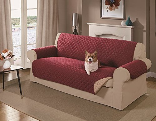 Mason Reversible Sofa Cover, Red Import It All