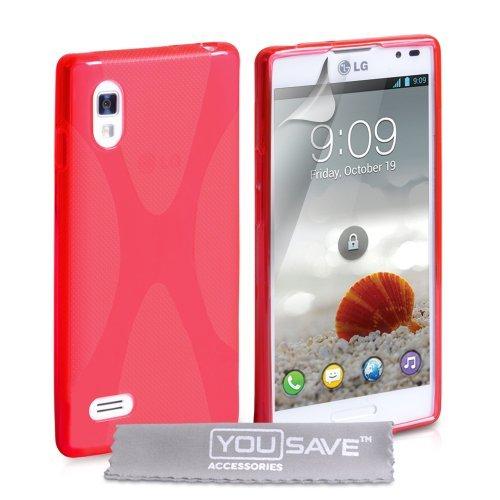 Yousave Accessories Lg Optimus L9 X-line Gel Case - - 3d Silicone Optimus