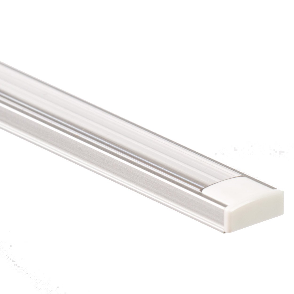 Abdeckung opal Aluprofil LED Streifen 2m PL 2 Aluminium Profil Arrakis f
