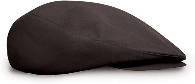 Flat Newsboy Traditional Golf Cap: 'Par 3' - Solid - Microfiber