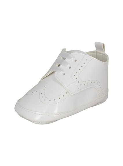 16541892a8e05 Boutique-Magique Chaussons de baptême bébé garçon Blanc Verni  Amazon.fr   Chaussures et Sacs