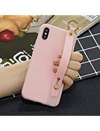 Amocase Soft Silicone Case with 2 in 1 Stylus for Samsung Galaxy S9 Plus,Cute Sweet Candy Color Wrist Strap Stand Shockproof Anti-Scratch Flexible Case - Light Pink