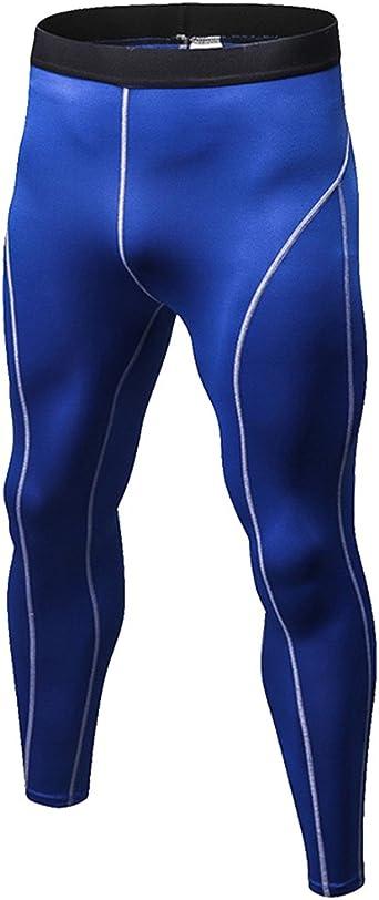 DianShao Hombre Aptitud Jogging Mallas Pantalones Secado Rápido Fitness Running Compresión