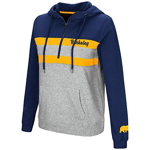 Womens Cal Berkeley Golden Bears Quarter Zip Pull-over Hoodie - XL