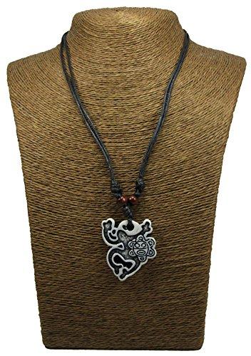 Coqui Taino Necklace - Taino Sun Necklace - Taino Symbols - Tribal Frog Necklace