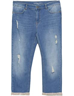 migliore a buon mercato dd7b1 bbe60 Fiorella Rubino : Jeans Skinny Capri (Italian Plus Size ...