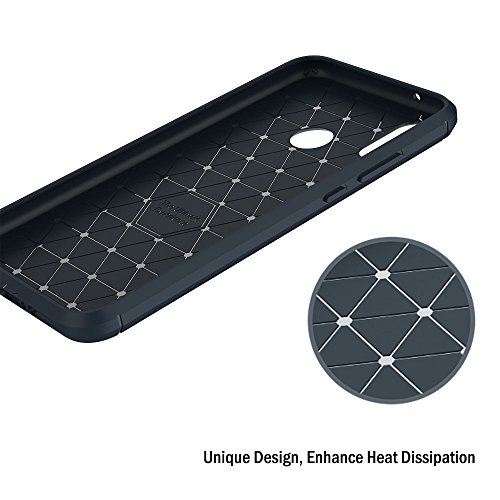 Funda Huawei P20 Lite, AICEK Azul Silicona Fundas para Huawei P20 Lite Carcasa Huawei P20 Lite Fibra de Carbono Funda Case (5,84 Pulgadas)