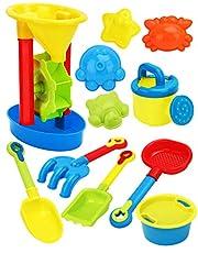 KESYOO 11pcs Beach Toys Kids Sand Toys Set Watering Bucket Beach Shovel Tool Kit for Kids Pools Backyard Sandbox