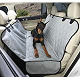 4Knines Dog Seat Cover with Hammock for Cars, Trucks and SUVs - Grey Regular - USA Based