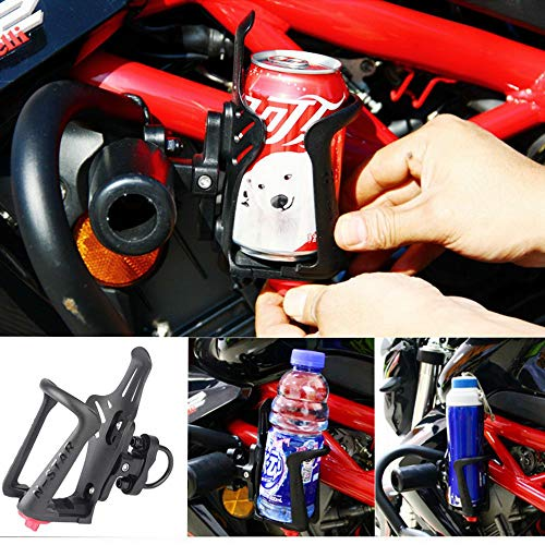 Bottle Water Motorcycle (Ocamo Automotive-Cup-Holders Motorcycle Water Bottle Holder Cup Holder Transverse/Vertical Pipe Rack Universal Use)