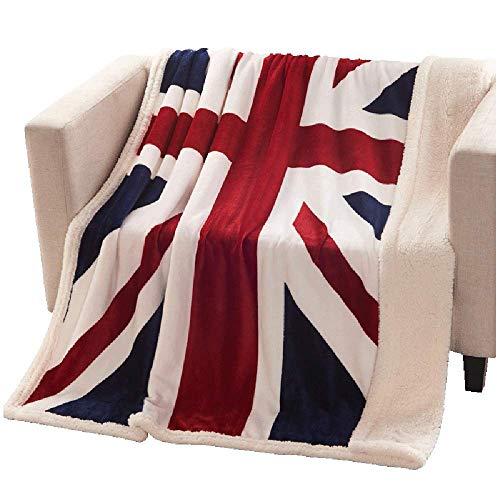 USTIDE Super Soft Union Jack Fleece Blanket The Sherpa Throw Blanket Super Comfy Blanket Comfort Caring Gift Blanket - Union Jack