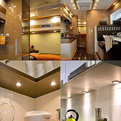 BRAUTO-12V-LED-Camper-Innenraum-Auto-Ladegert-Spot-Licht-fr-Wohnmobil-Wohnwagen-Boot-Warm-Wei-6-Stck