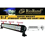 RioRand® 120w 21.5'' Inch 10-30v LED Off-road Light Work Light 4x4 -Jeep Cabin/boat/suv/truck/car/atvs Fishing Deck Driving Light 8000lm Waterproof (Flood/Spot Combo Beam)