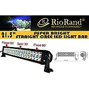 Amazon #LightningDeal 66% claimed: RioRand® 120w 21.5'' Inch 10-30v LED Off-road Light Work Light 4x4 -Jeep Cabin/boat/suv/truck/car/atvs Fishing Deck Driving Light 8000lm Waterproof (Flood/Spot Combo Beam)