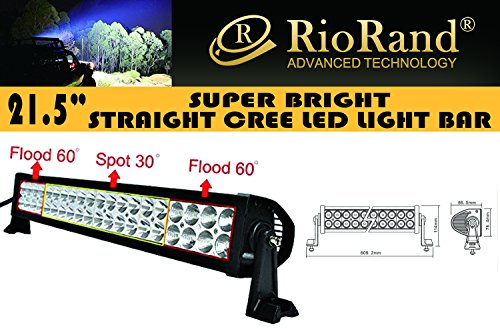Amazon #LightningDeal 66% claimed: RioRand® 120w 21.5'' Inch 10-30v LED Off-road Light Work Light 4x4 -Jeep Cabin/boat/suv/truck/car/atvs Fishing Deck Driving Light 8000lm Waterproof (Flood/Spot Combo Beam)