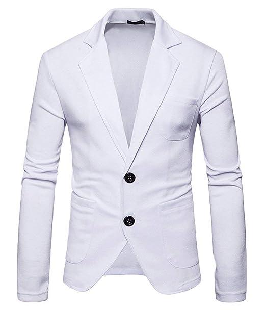 HX fashion Blazer Blazer Chaqueta De Hombre Dos Botones ...