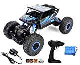 Popsugar 4 Wheel Drive 1:18 Rock Crawler Off Roader Monster Truck with 2.4GHz Remote Control Rechargeable Toy for Kids,