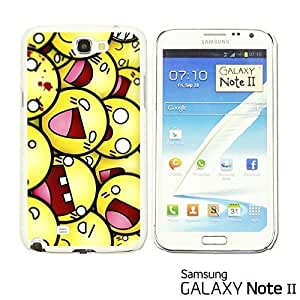 OnlineBestDigital? - Funny Pattern Hardback Case for Samsung Galaxy Note 2 - Funny Smily Faces