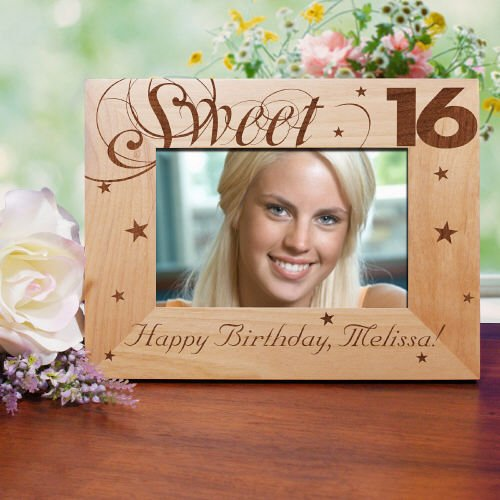 GiftsForYouNow Sweet Sixteen 4x6 Picture Frame, Engraved