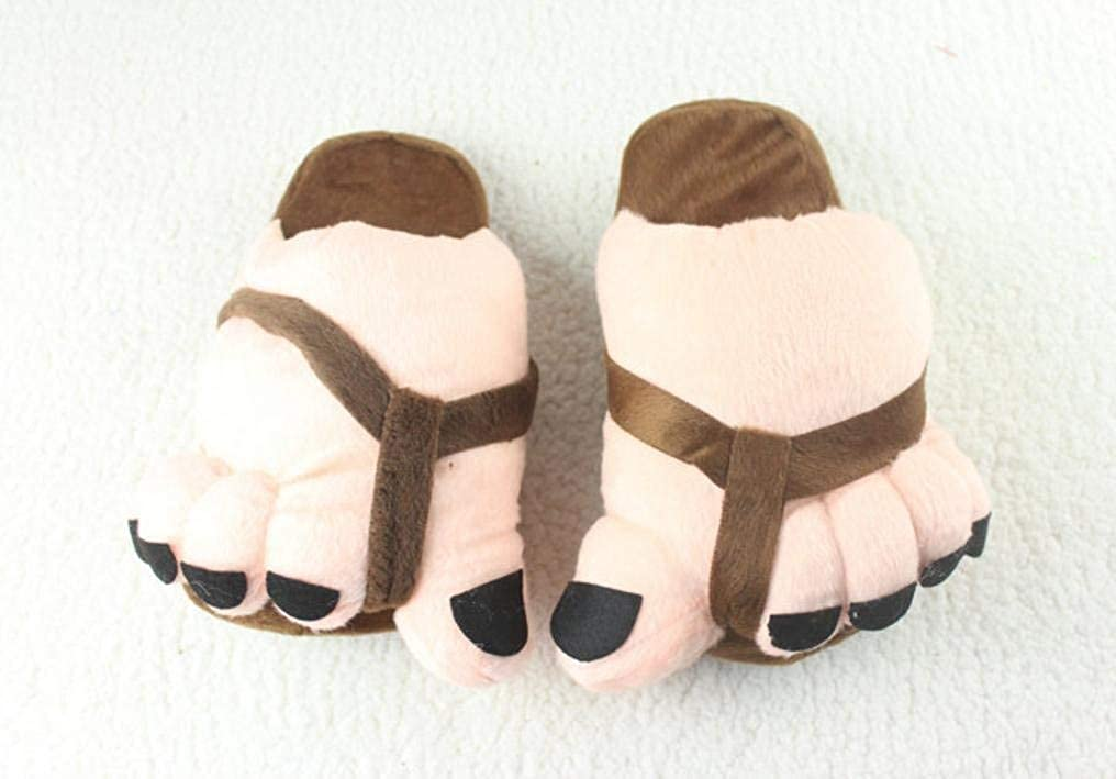 Coffee JaHGDU Ladies Casual Cute Toes Style Appearant Slippers Super Soft Plush Paws Comfortable Special Design Home Leisure Cotton Slippers