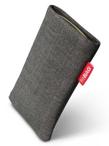 fitBAG Jive Grau Handytasche Tasche aus Textil-Stoff mit Microfaserinnenfutter für Apple iPhone 2G