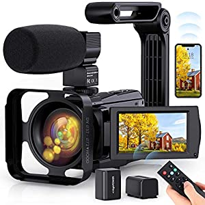 Flashandfocus.com 519RMdr6UrL._SS300_ 4K Video Camera WiFi Camcorder, Vlogging Camera 48MP 60FPS IR Night Vision IPS Touch Screen for YouTube, Digital Camera…