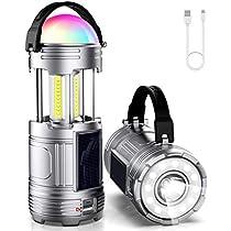 Tinzzi LEDランタン usb充電式 ソーラー充電 電池式 3 in 1 高輝度 ...