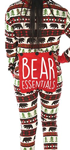 LazyOne Adult Flapjack Onesies (X-Large, Bear Essentials) (Funny Adults Onesies)