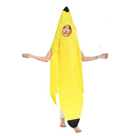 QBSM Fruit Suit Lightweight Halloween Banana Costumes Funny Suit for Child Kids (Banana)