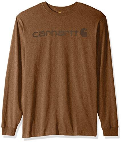 Carhartt Mens Big & Tall Signature Logo Long Sleeve T-Shirt