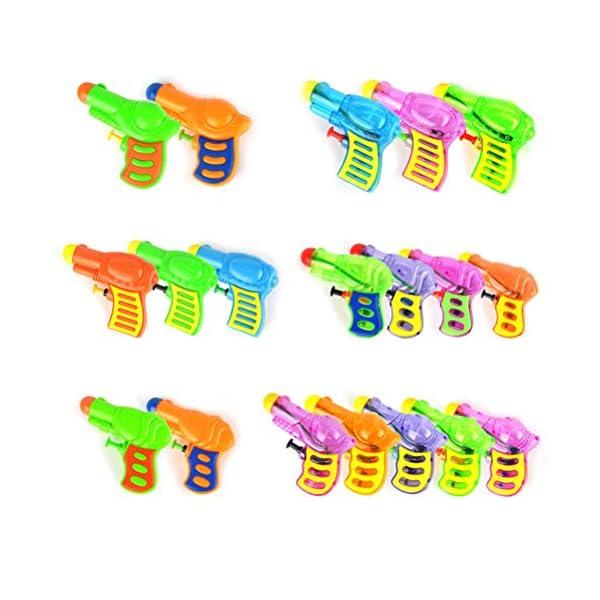 TOYMYTOY Acqua in plastica per pistola Squirt per bambini 6pcs (tipo e colore casuale) 4 spesavip
