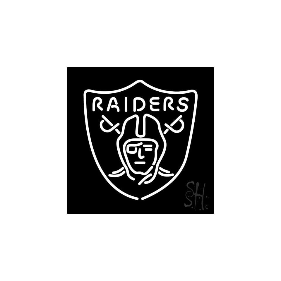 """Oakland Raiders NFL Neon Sign 24"""" Tall x 24"""" Wide x 3"""" Deep  Business And Store Signs"""
