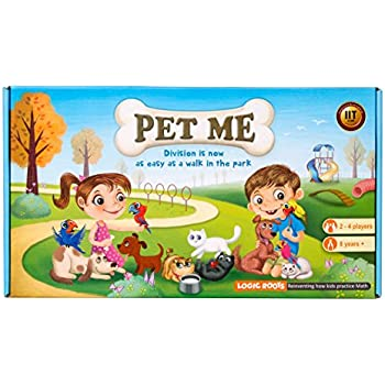Logic Roots Pet Me Multiplication and Division Math Board Game Stem Toy Math Resource