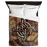 CafePress - Celtic Rock Knot Queen Duvet Cover - Queen Duvet Cover, Printed Comforter Cover, Unique Bedding, Microfiber