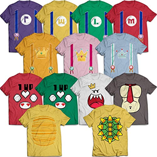Funny Game-Characters Matching Group Halloween Costume Outfit Set Customized Handmade T-Shirt Hoodie/Long Sleeve/Tank Top/Sweatshirt]()