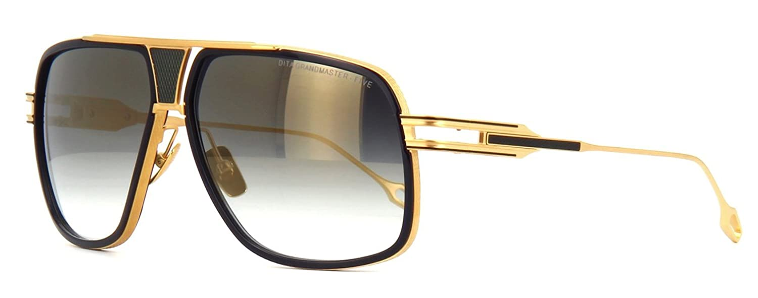 2d8a6b6a741 DITA DRX 2077 Grandmaster Five Sunglasses Navy Gold w Gold Mirror Gradient ( DRX-2077-B-NVY-GLD-64) 64mm Authentic  Amazon.ca  Clothing   Accessories