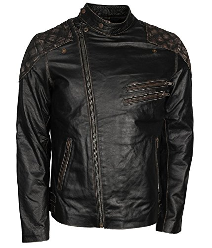 Skin Mens Skull Rider Clothing Jacket Ride Mens Motorbiker Leather Distressed Feather O15xZnqdd