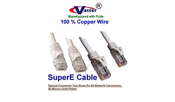 Vaster SKU -81975-2 Ft Not CCA Wire 100/% Copper 20 Pcs//Pack Cat6 Patch Cable Purple Made in USA 23Awg Solid Wire RJ45 Snagless Straight Patch Cable UL CSA CMR ETL