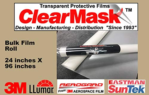 ClearMask 24' X 96' Fabricated Paint Protection Film Roll (8 Mil Clear Urethane Film from 3M, Eastman Llumar Suntek or Equal) ClearMask Protective Films