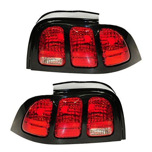 Taillights Taillamps Rear Brake Light Left/Right Pair Set for 96-98 Ford Mustang