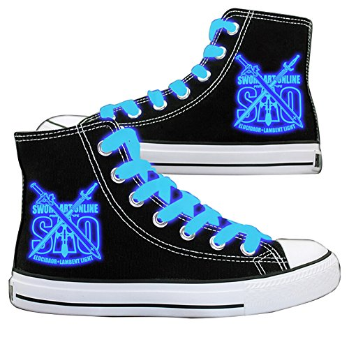 SAO Online Blue Shoes Sword Canvas Cosplay Sneakers Shoes Dark Luminous 1 Art aqnFW1Sga