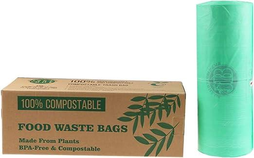 Backward Turtle Ltd Biodegradable, 100% compostable para residuos ...