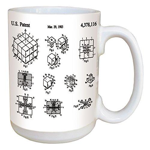 Rubik's Cube Patent Coffee Mug - Large 15 Ounce Ceramic Mug