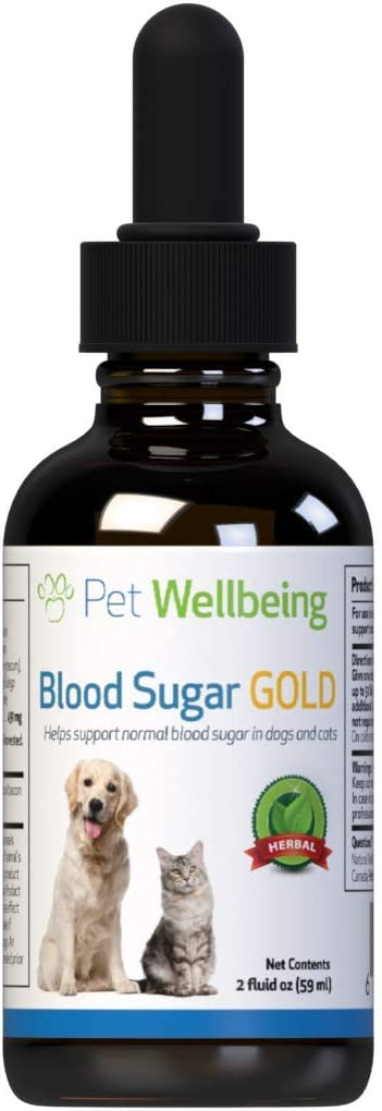Pet Wellbeing Blood Sugar Gold for Cats - Natural Support for Healthy Blood Sugar Levels in Cats - 2 Ounce 59 Milliliter : Pet Supplies