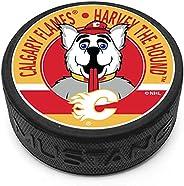 Calgary Flames Harvey Mascot Textured Puck