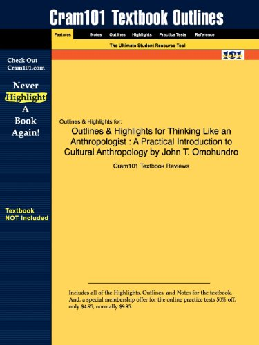 Outlines & Highlights for Thinking Like an Anthropologist: A Practical Introduction to Cultural Anthropology by John