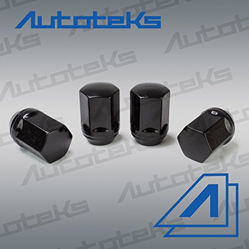20 Pc 9/16'' Black OEM Style Factory Lug Nuts   Works with 2002-2011 Dodge Ram 1500 Dakota & Durango Factory Wheels by Autoteks (Image #3)