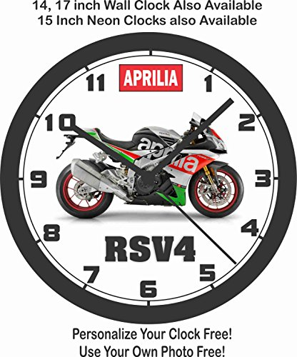 Aprilia Cars (2017 APRILIA RSV4 SUPERBIKE WALL CLOCK-FREE US SHIP)