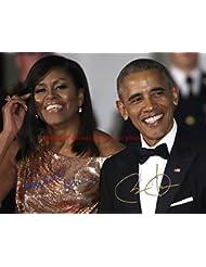 Barack & Michelle Obama Autographed 8x10 Glossy Photo
