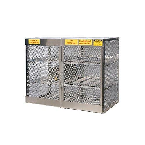 Justrite Pressurized Gas Cylinder Locker, Horizontal, 49 1/2''H x 60''W x 32''D